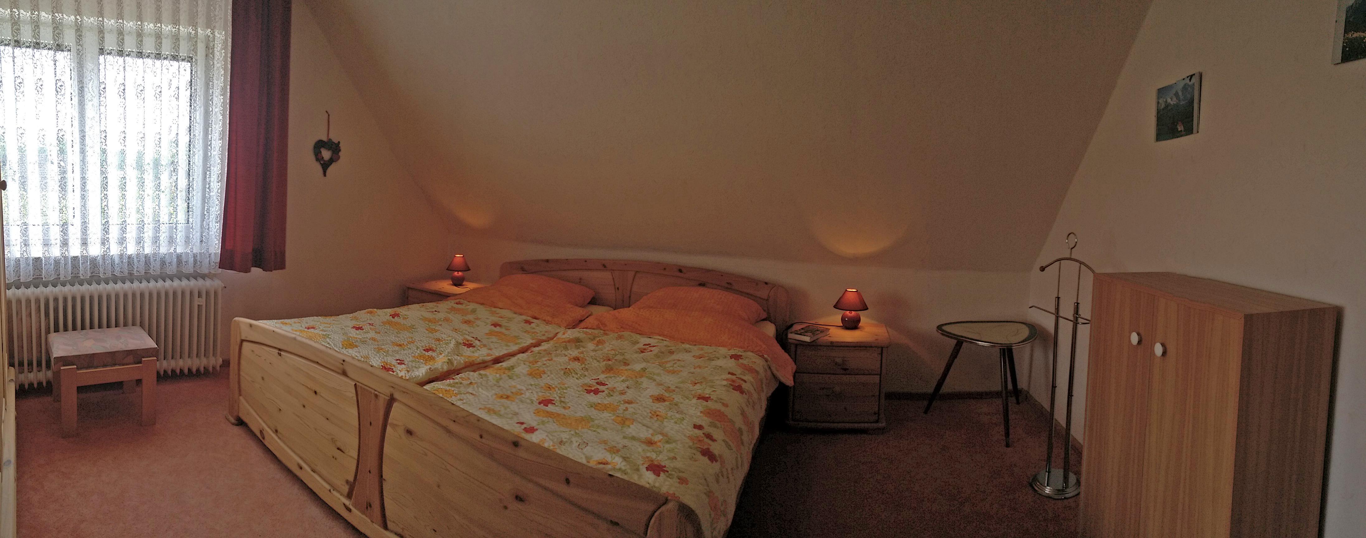 Schlafzimmer (Panorama-Aufnahme)